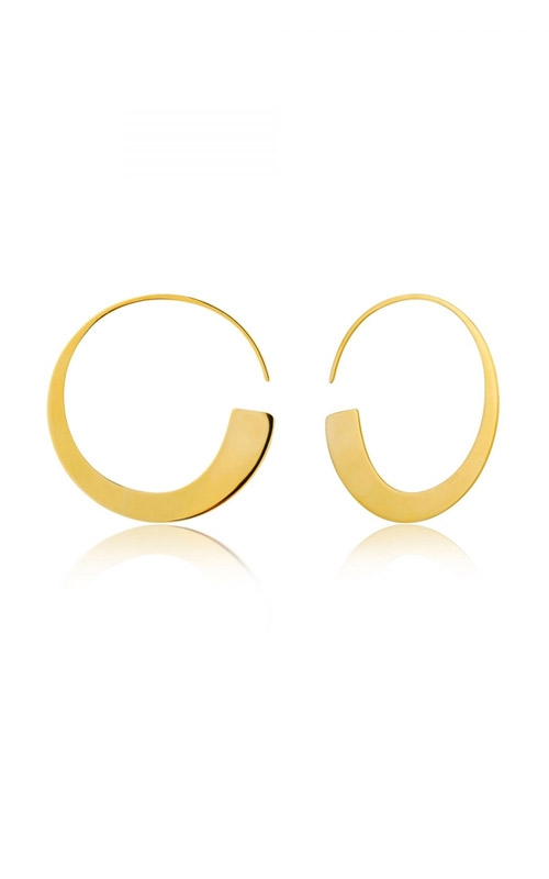 Ania Haie Geometry Slim Hoop Earrings E005-01G product image