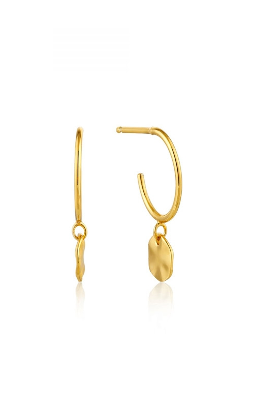 Ania Haie Ripple Small Hoop Earrings E007-03G product image