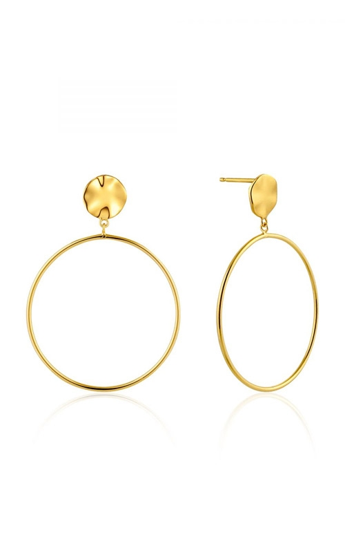 Ania Haie Ripple Front Hoop Earrings E007-06G product image