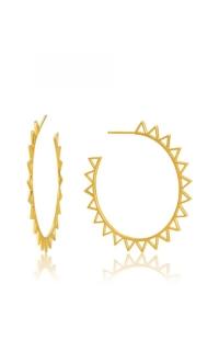 Ania Haie Spike Hoop Earrings E008-03G product image
