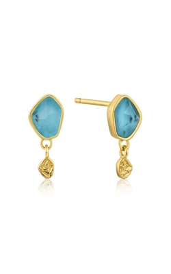 Ania Haie Turquoise Drop Stud Earrings E014-01G product image
