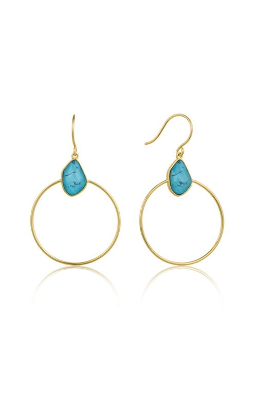 Ania Haie Turquoise Front Hoop Earrings E014-02G  product image