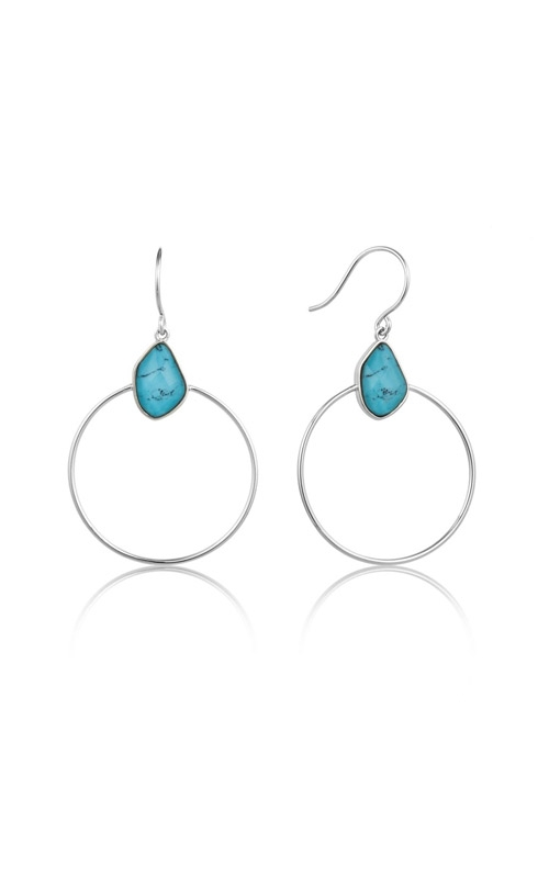 Ania Haie Turquoise Front Hoop Earrings E014-02H  product image