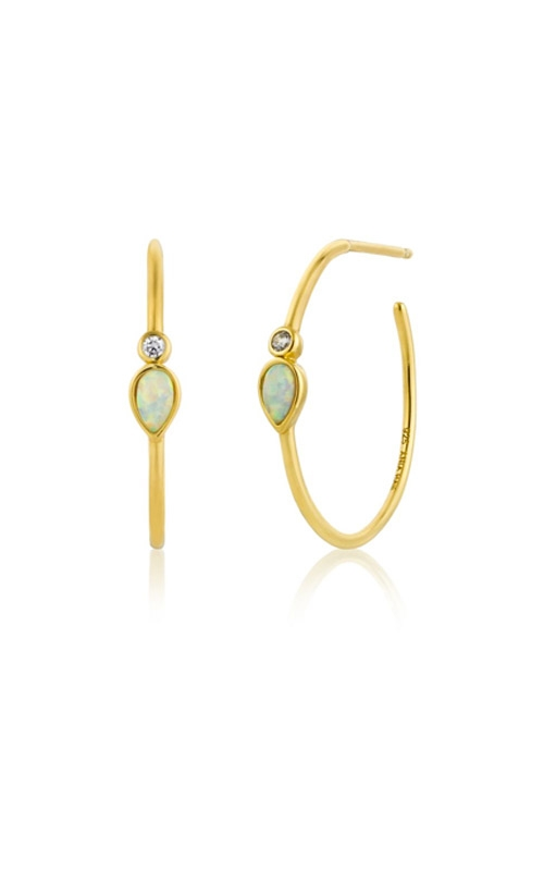 Ania Haie Opal Colour Raindrop Hoop Earrings E014-04G  product image