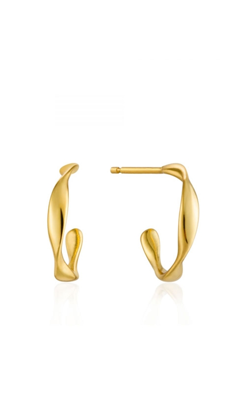 Ania Haie Twist Mini Hoop Earrings E015-01G product image