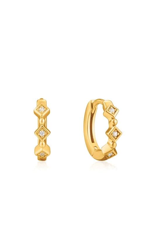 Ania Haie Gold Sparkle Huggie Hoops E023-01G product image