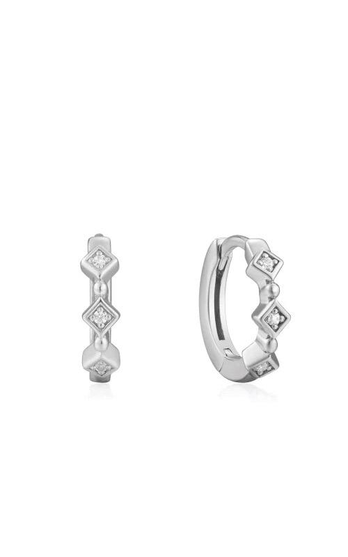 Ania Haie Silver Sparkle Huggie Hoops E023-01H product image
