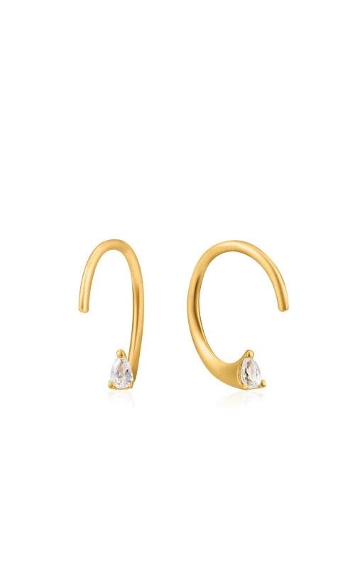 Ania Haie Gold Twist Sparkle Earrings E023-05G product image