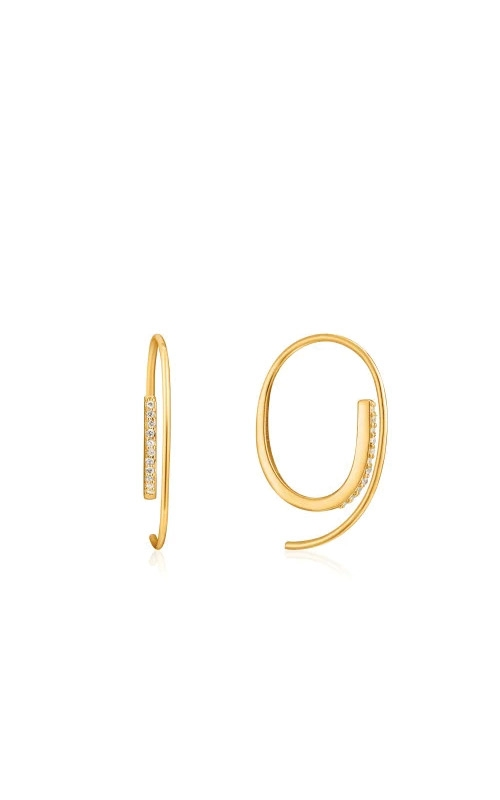 Ania Haie Gold Twist Through Sparkle Earrings E023-07G product image