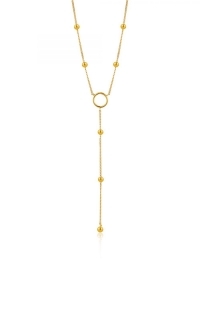 Ania Haie Modern Circle Y Necklace N002-05G product image