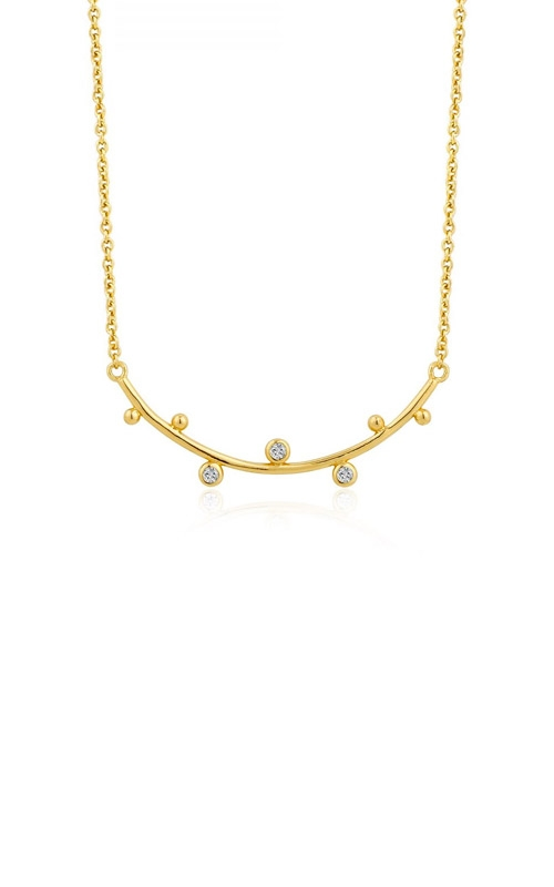Ania Haie Shimmer Solid Bar Stud Necklace N003-01G product image