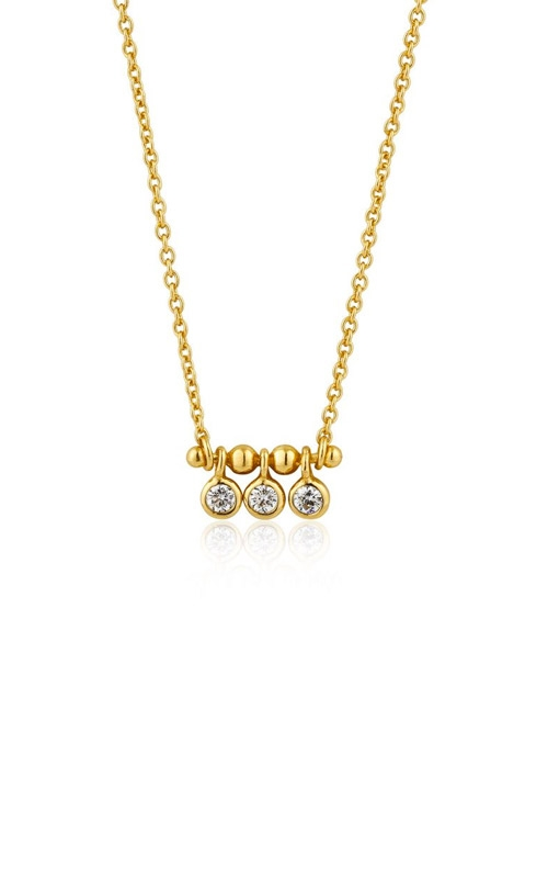 Ania Haie Shimmer Triple Stud Necklace N003-03G product image