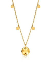 Ania Haie Ripple Drop Discs Necklace N007-04G product image