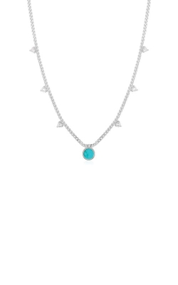 Ania Haie Silver Turquoise Disc Drop Necklace N022-03H product image