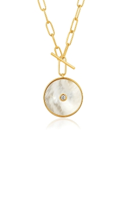 Ania Haie Gold Mother Of Pearl T-bar Necklace N022-04G product image