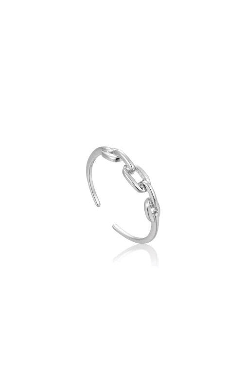 Ania Haie Silver Links Double Adjustable Ring R004-02H product image