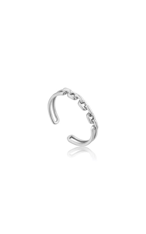 Ania Haie Silver Links Double Adjustable Ring R004-03H product image