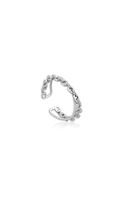 Ania Haie Silver Chain Double Crossover Ring R004-04H product image