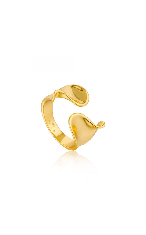 Ania Haie Twist Wide Adjustable Ring - Size 7 R012-03G product image