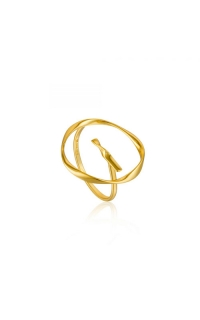 Ania Haie Twist Circle Adjustable Ring - Size 7 R015-01G product image