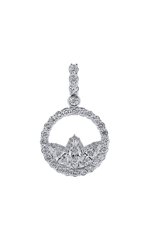 Ashley Lauren 14k White Gold Marquise Diamond Pendant ALC012-186874B product image