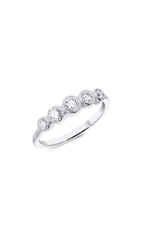 Ashley Lauren 14k White Gold 5 stone Diamond Ring ALC034-202869A product image