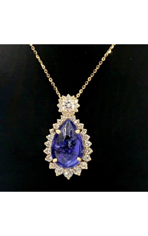 18k YG Tanzanite and Diamond necklace product image