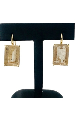 14k YG Quartz Earrings product image