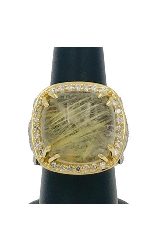 18k YG Quartz and Diamond Ring product image
