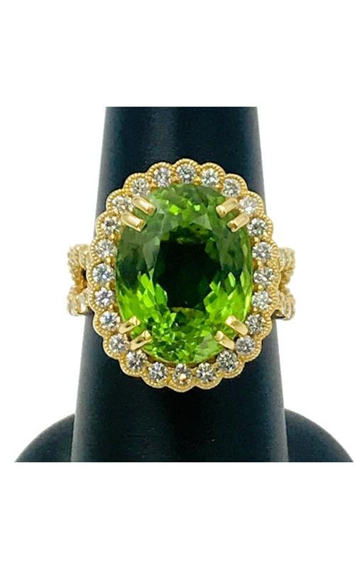 18k YG Peridot and Diamond Ring product image