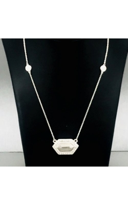14k WG Grey Diamond Necklace product image