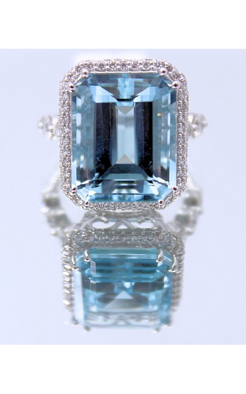 14k WG Aquamarine and Diamond Ring product image