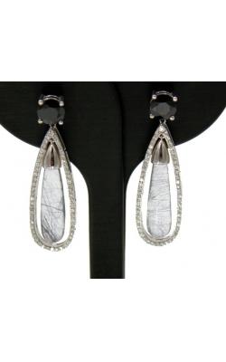14k WG Quartz and Diamond Dangle Earrings product image