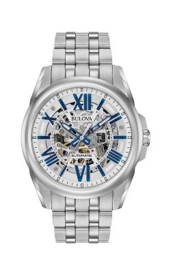 Bulova Sutton Men's Blue Accent Dial Automatic Watch 96A187 product image