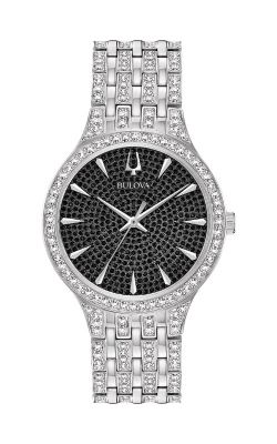 Bulova Phantom Men's Silver Swarovski Crystal Watch 96A227 product image