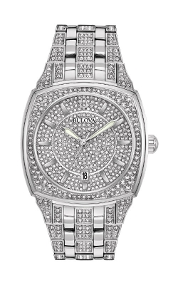 Bulova Phantom Men's Silver Crystal Watch 96B296 product image