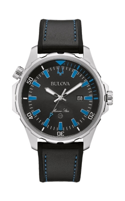 Bulova Marine Star Black And Blue Watch 96B337 product image