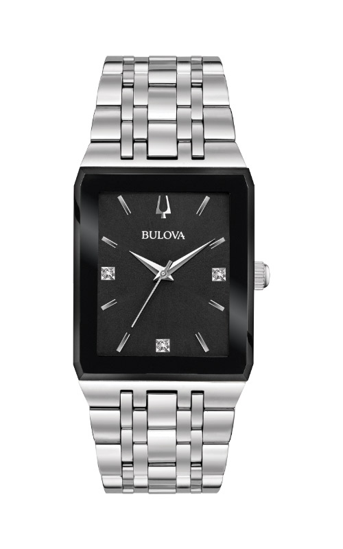 Bulova Quadra Silver Square Watch 96D145 product image