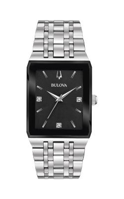 Bulova Quadra Silver Square Watch 96D145 product image