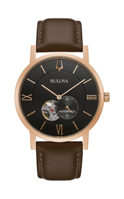 Bulova Men's American Clipper Rose Tone Automatic Watch 97A155 product image