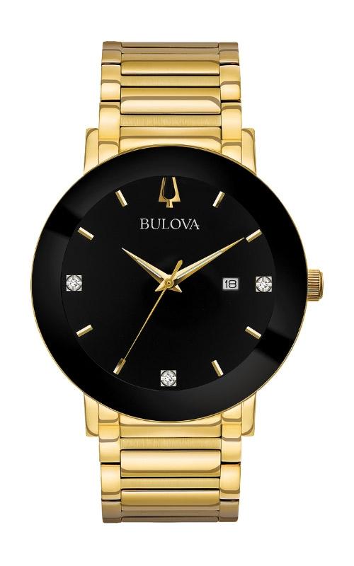 Bulova Futuro Men's Gold and Black Modern Watch 97D116 product image
