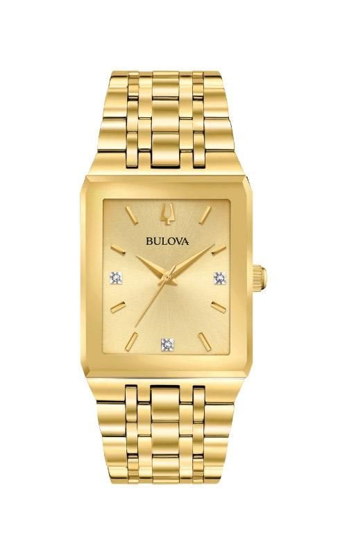 Bulova Quadra Women's Gold Diamond Watch 97D120 product image