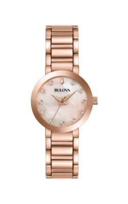 Bulova Futuro Women's Rose Gold Tone Watch 97P132 product image
