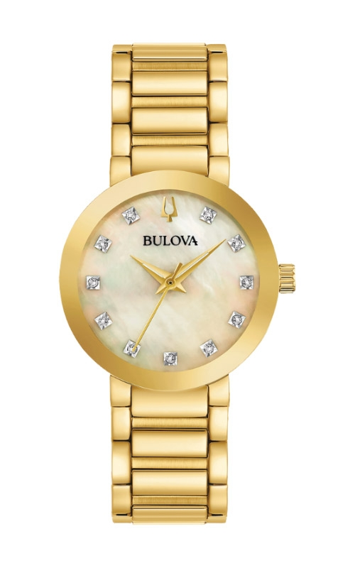 Bulova Futuro Women's Gold Tone Watch 97P133 product image
