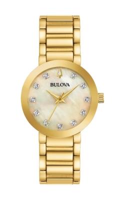 Bulova Futuro Women's Gold Tone Watch 97P133 product image