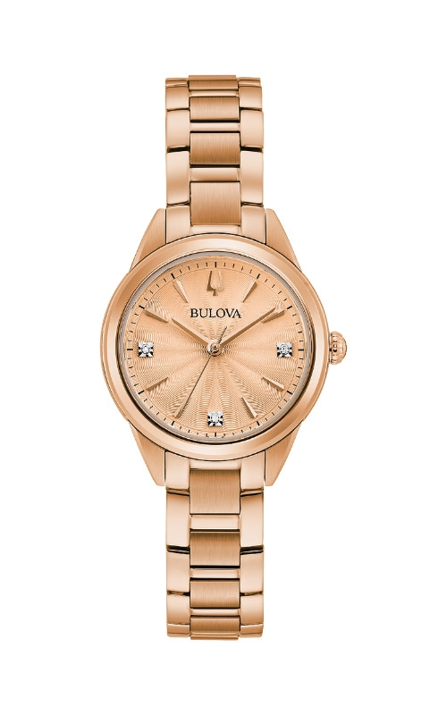 Bulova Sutton Women's Rose Tone Watch 97P151 product image