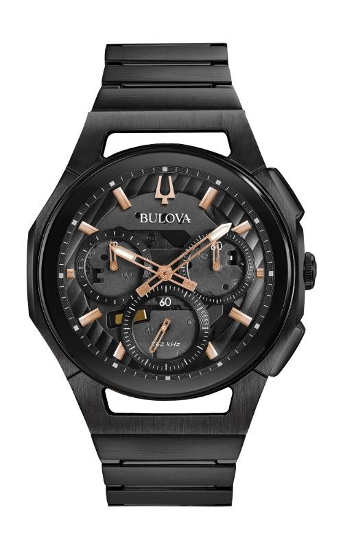 Bulova CURV Men's Black Chronograph Watch 98A207 product image