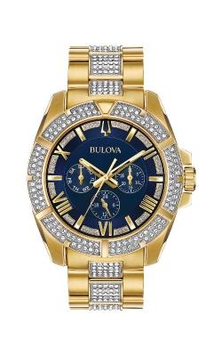 Bulova Men's Octava Gold And Blue Swarovski Crystal Watch 98C128 product image