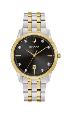 Bulova Sutton Men's Black Two Tone Watch 98D165 product image