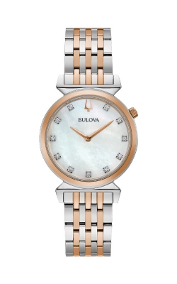 Bulova Regatta White Mother of Pearl Two Tone Watch 98P192 product image